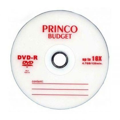 دی وی دی خام پرینکو قرمز ۵۰ عددی PRINCO DVD