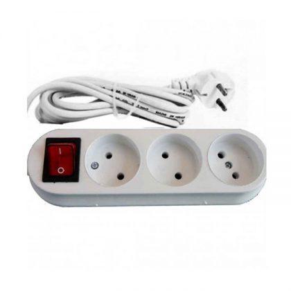 رابط برق 3 خانه کلید دار
