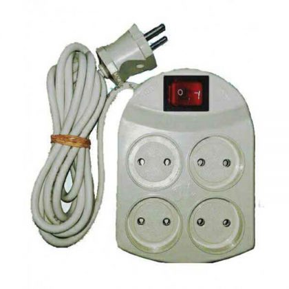 رابط برق 4 خانه کلید دار