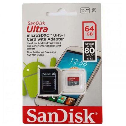مموری میکرو SanDisk Ultra UHS-1 64G