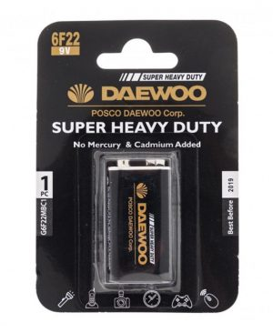 باتری کتابی 9 ولت DAEWOO 6F22