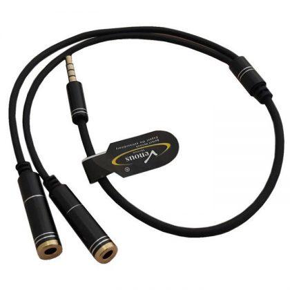 کابل 1 به 2 صدا لپ تاپ Venous PV-K919