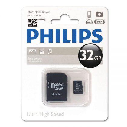 مموری میکرو PHILIPS FM32MA45B UHS-I U1 Class10 32GB