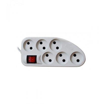 رابط برق 6 خانه کلید دار