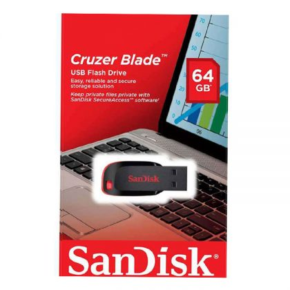 فلش مموری سن دیسک SanDisk Cruzer Blade CZ50 64GB