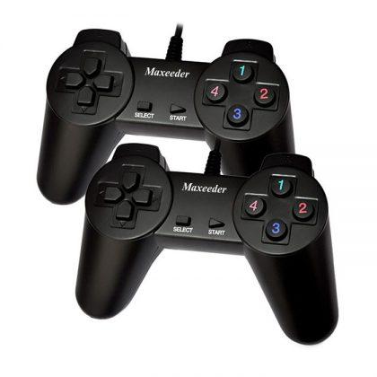 گیم پد دوبل بدون شوک Maxeeder MX-GP8000