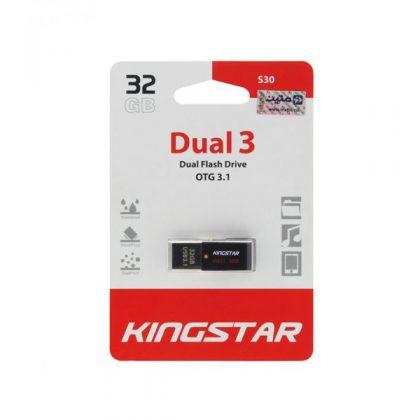 فلش مموری کینگ استار KingStar S30 OTG USB 3.1 32GB